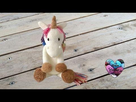 Tutoriel complet : Une belle Licorne, faite au crochet.