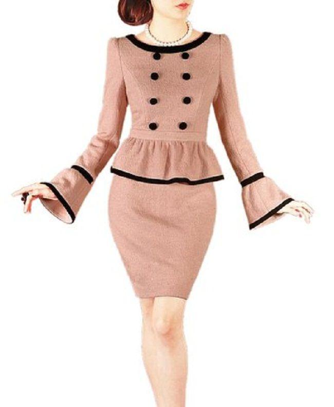 2 piece peplum dress