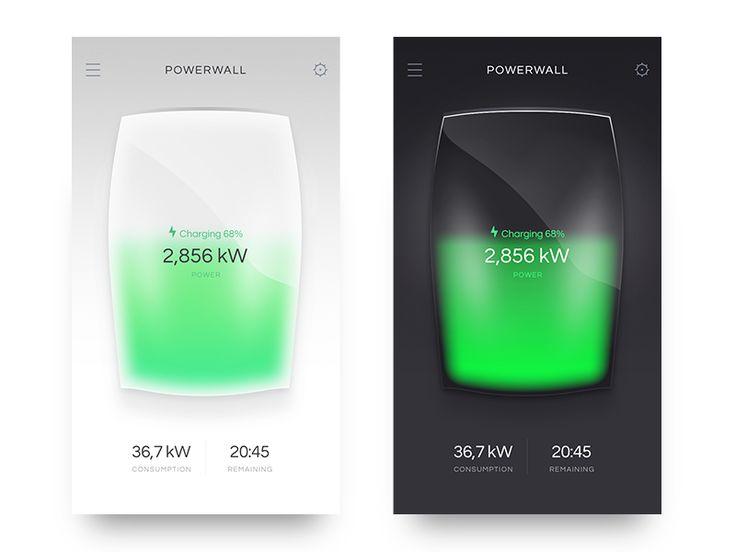 Powerwall Statistics (Dark/Black) by Artyom Khamitov