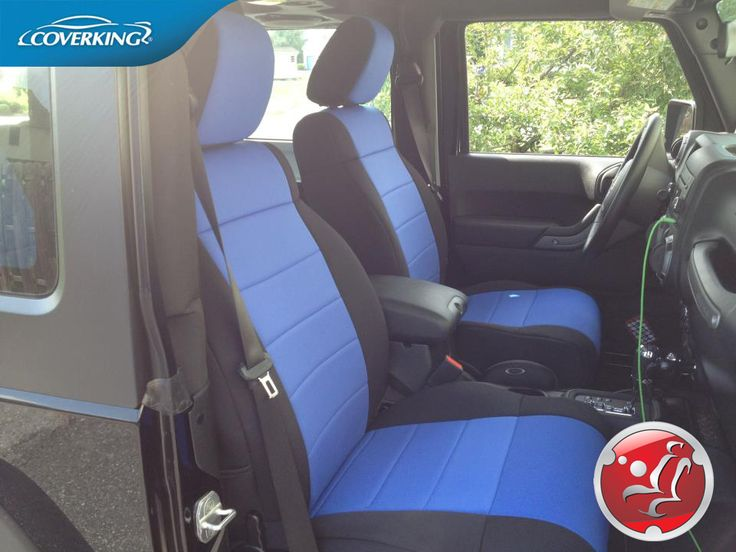 Jeep Wrangler Black with Blue inserts Neoprene Seat Covers from Coverking.