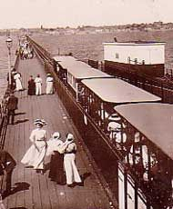 Trend-setter. The electric tram service on Southend Pier was the first of its kind.