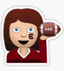 South Carolina Football Girl (Blue Eyes) Sticker