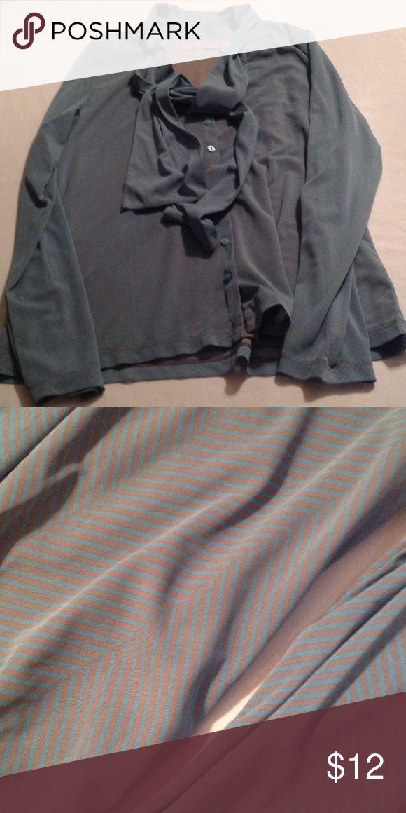 Blue chevron blouse Blue chevron design blouse. (C) Liz Claiborne Tops Blouses