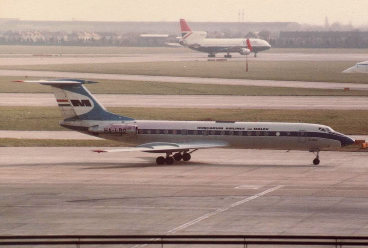 1974 Tupolev Tu-134A HA-LBO - Malev Hungarian Airlines - London Heathrow Airport 1983