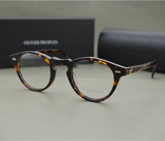 stylish frames for men's glasses ihrr  Famous Brand Oliver Peoples Eyeglasses Gregory Peck OV 5186 Oval Vintage  Myopia Glasses Frame Men and