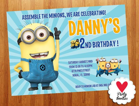 17 Best images about Minion Birthday on Pinterest | Minion ...