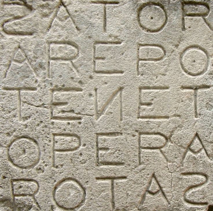 The Sator Square, one of the earliest known palindromes is a square that reads the same forwards, backwards, upwards and downwards, dating back as far back as 2000 years ago in the ruins of Pompeii. It's meaning has been an enigma, although scholars agree on the individual words. According to John T. Cullen, this meme could mean `God holds the plough, but you turn the furrows'. #Sator_Square #Palindrome