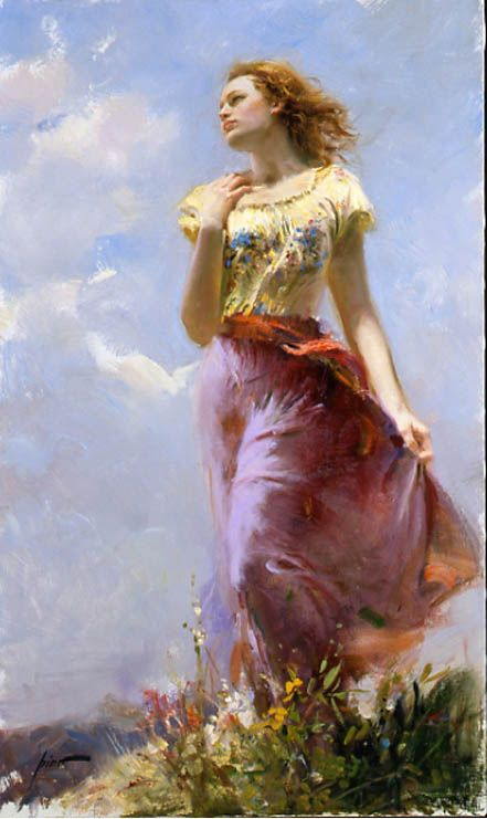 Pino Daeni (November 8, 1939 – May 25, 2010) was an Italian Impressionist book illustrator and artist. He is known for his style of feminine, romantic women and strong men painted with loose but accurate brushwork.
