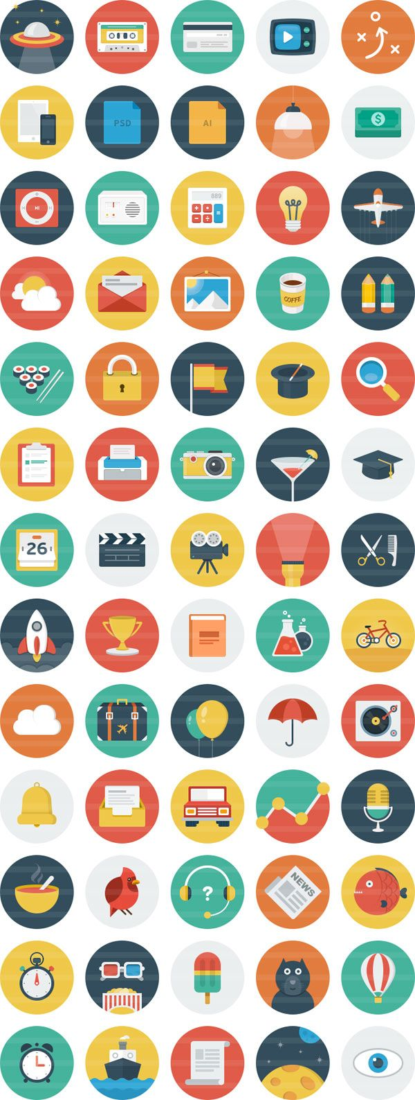 Ballicons – an Original Flat Icon Set for Download by DIRKPETZOLD