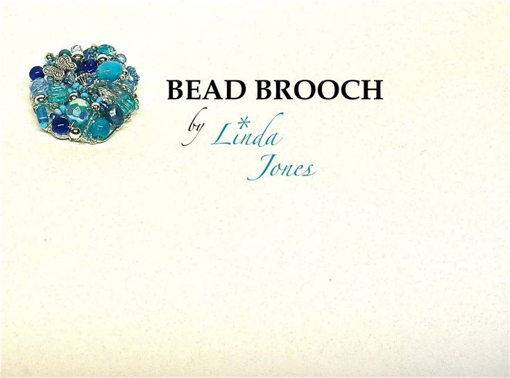 Bead Brooch  •  Free tutorial with pictures on how to make a beaded brooch in under 50 minutes
