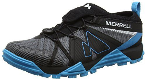 Merrell Avalaunch, Chaussures de Trail Homme: Traditional lace closure. Bellows tongue keeps debris out. Comfort padded Lycra collar.…
