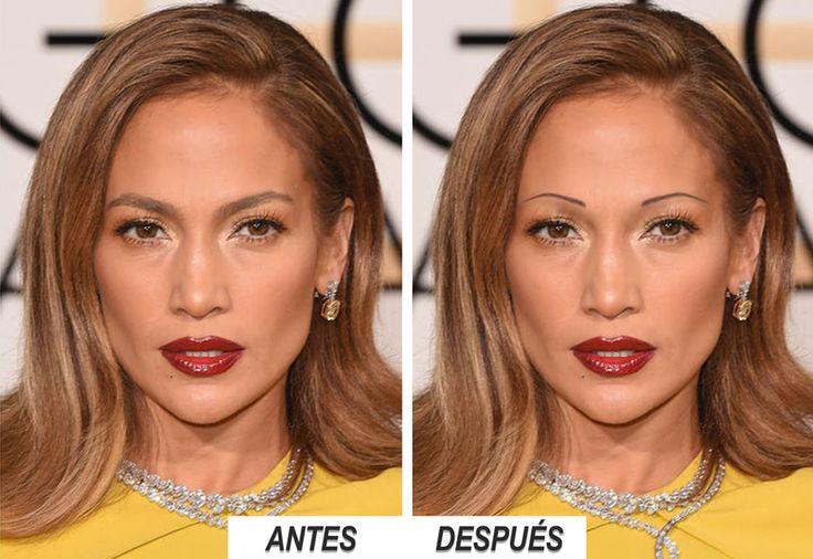 Jennifer López  ¿Cómo te gusta más? Cejas anchas o estrechas