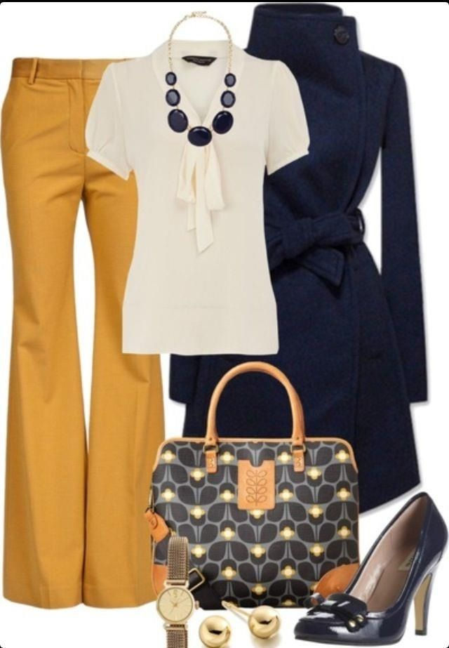Love this. I don't mind the mustard color if it is not near my face. I would prefer wedge or lower healed shoes.