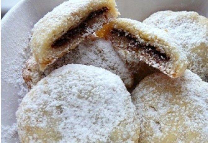 Csokis-kókuszos töltött keksz