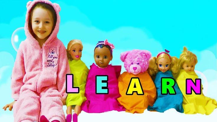 ÖYKÜNÜN BEBEKLERİ GÜLÜYOR Learn colors with baby dolls!Are you sleeping ...
