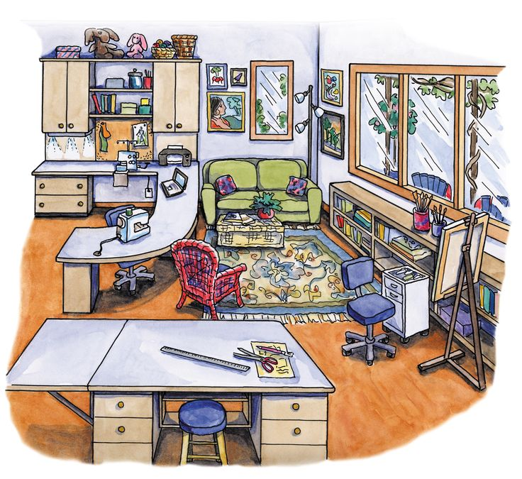 Quilting Room Design Ideas Part - 46: Sewing, Computing And Painting Spaces.my Dream Space.