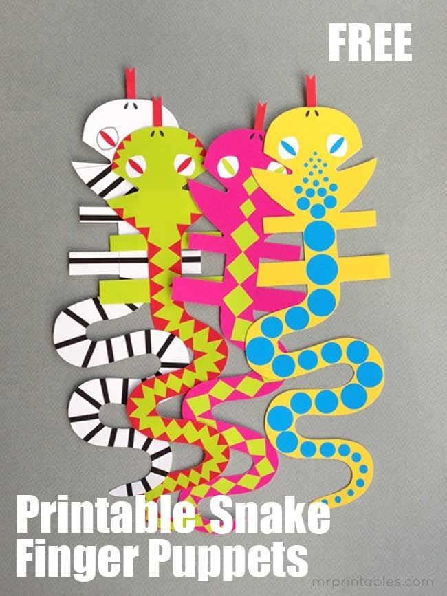 DIY Snake Finger Puppets - Spaceships and Laser Beams