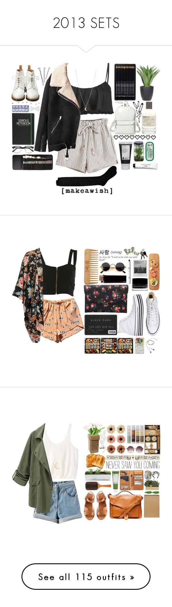 """""""2013 SETS"""" by c-hristinep ❤ liked on Polyvore featuring Bobbi Brown Cosmetics, Reef, Korres, Happy Jackson, Alöe, Dr. Martens, Theory, Acne Studios, HotSquash and Le Labo"""