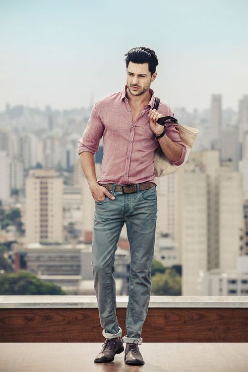 s pink sleeve shirt grey brown
