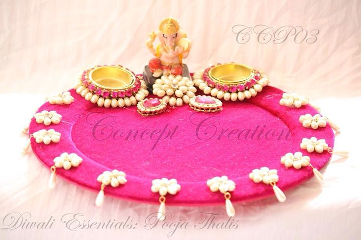Ganesh on Pink platter
