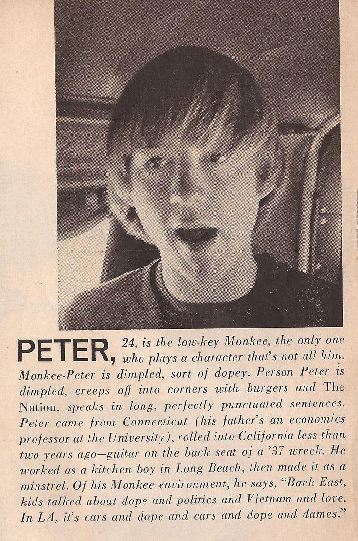Peter Tork - LOOK Magazine, 1966
