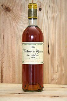 Jefferson bought bottles Château d'Yquem when he was in Bordeaux.  - Wikipedia, the free encyclopedia
