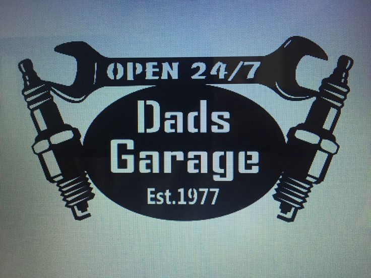 A personal favorite from my Etsy shop https://www.etsy.com/listing/398066553/dads-garage-sign-with-date-he-became-a