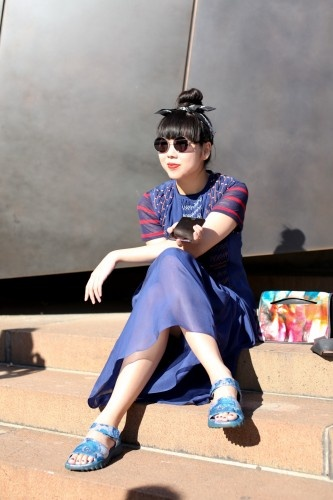 Susie Bubble in the Sydney sun.