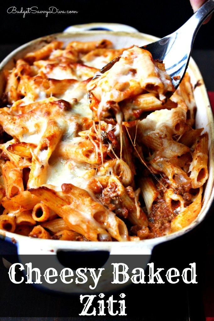 The most amazing baked pasta you will ever have. Recipe post has gluten - free option - Cheesy Baked Ziti Recipe