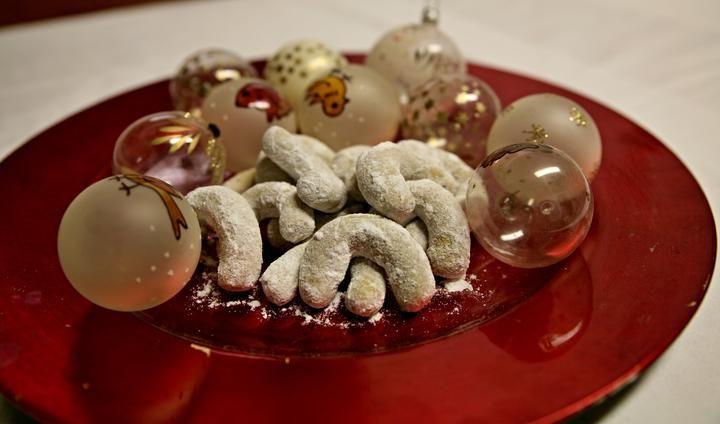 Vanilkové rohlíčky ze špaldové a kukuřičné mouky