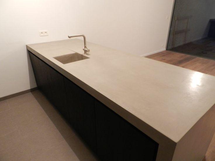 werkblad betonlook lichtgrijs