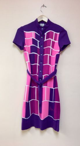 Details about Vintage 1960's Plus Size Lane Bryant Dress Geometric Mod Print 5