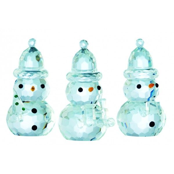 3 Crystal Snowmen Carrying Christmas Gifts 9cm. €22.95