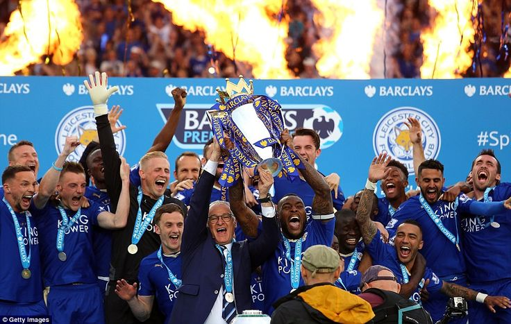 Leicester City finally get their hands on the Premier League trophy | Daily Mail Online