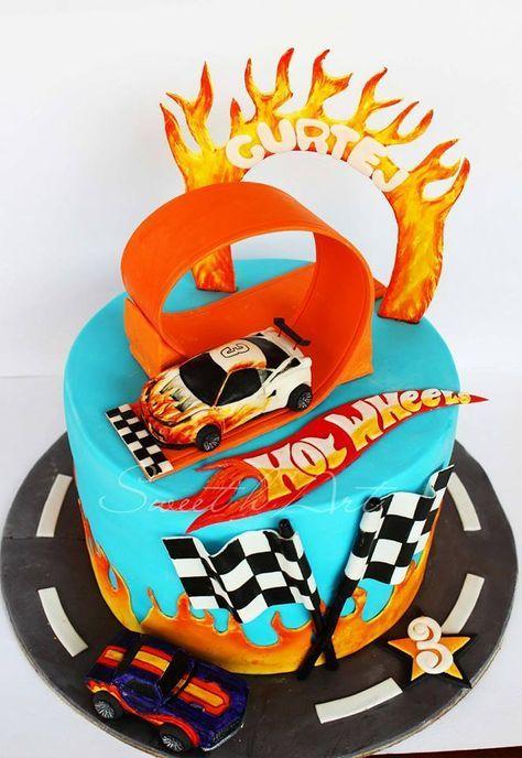 21 Trendige Autokuchen-Ideen mit heißen Rädern   – Car Theme Birthday