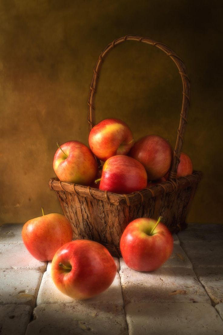 Basket with Apples by Blair Turrell