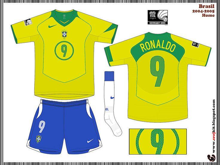 Brazil | home jersey | 2004-06