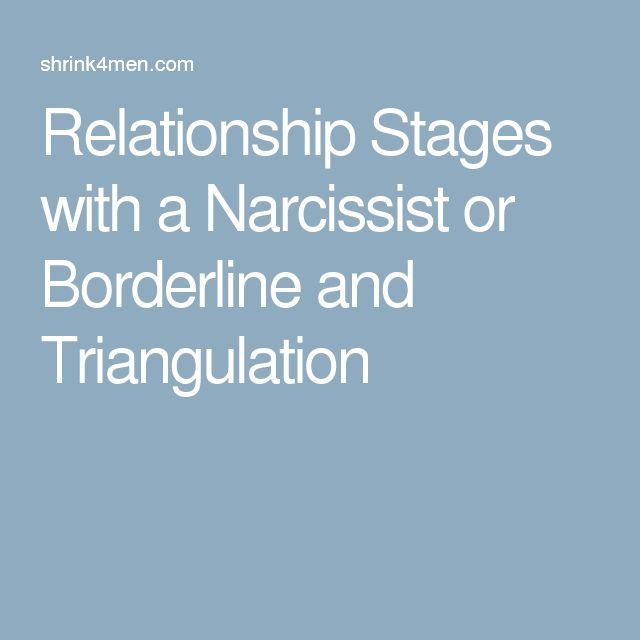Relationship Stages with a Narcissist or Borderline and Triangulation