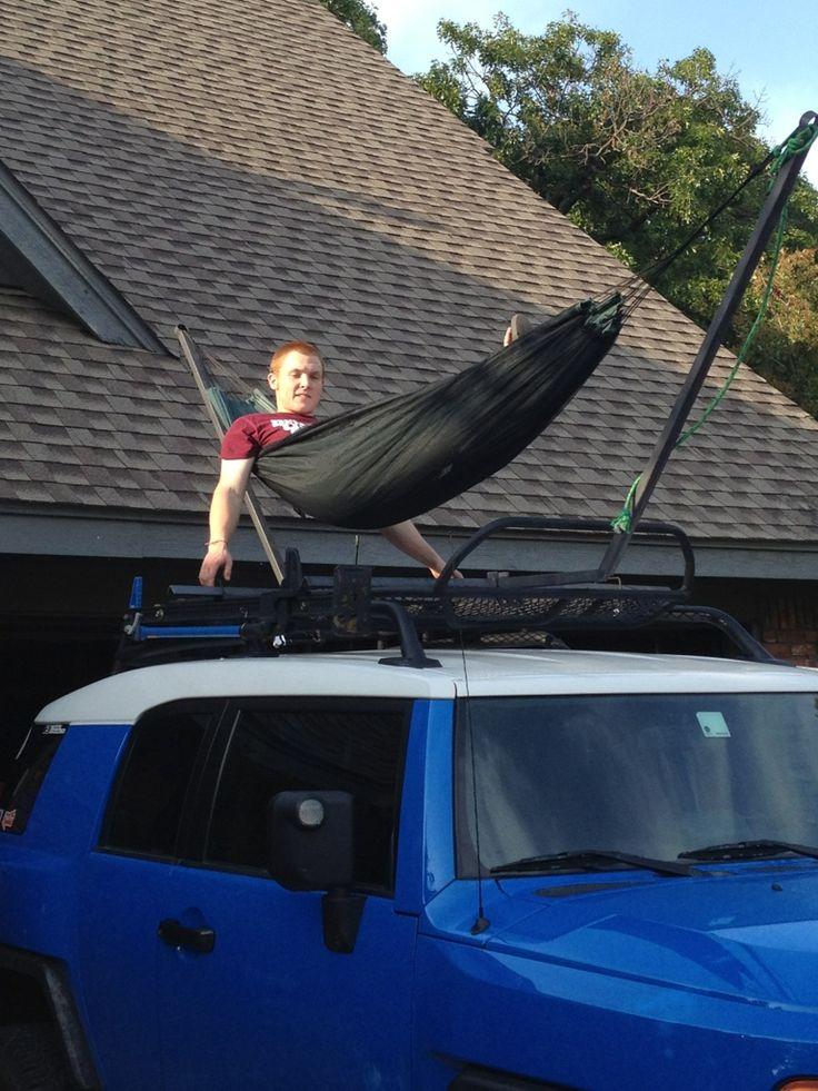 Roof rack hammock. - Toyota FJ Cruiser Forum