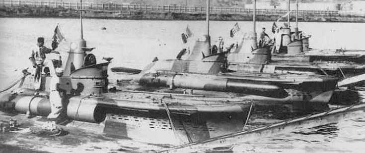 The CB type midget submarine was designed in great secrecy by Italy just before WW2 and is considered a highly capable design. It was armed with two torpedoes but variations on a related design (CA type) included modification to allow frogmen to use it as a transport for limpet mine attacks.