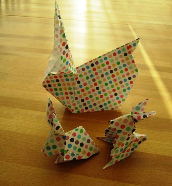 Savila, Origami Easter Bunnies