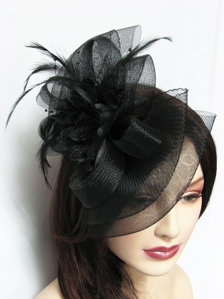 Hair Fascinator Hat Bow Shape Hair Clip - all colors $10.50