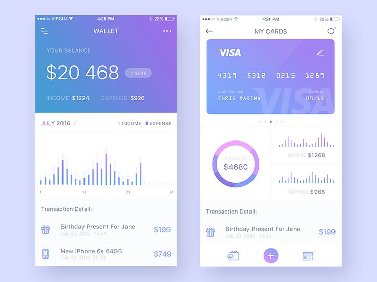 Day020-Wallet/Credit Cards - Some graphic design for wallet apps,Hope you guys like it!