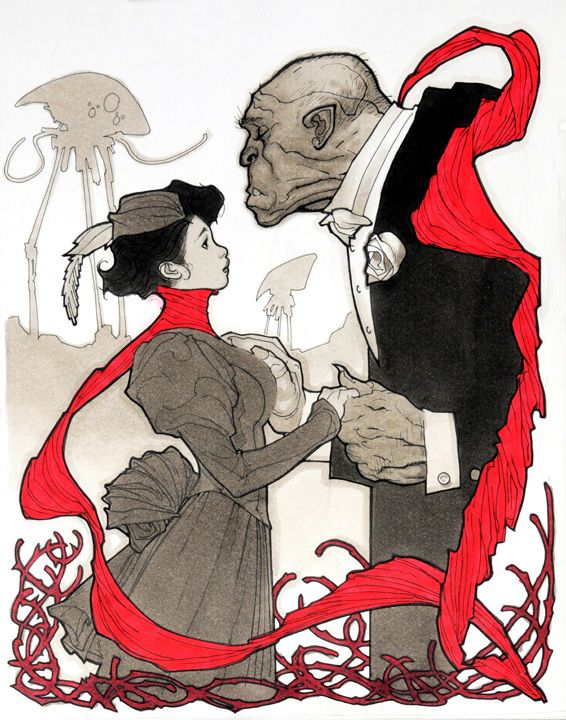 Mina Harker and Mr. Hyde by Adam Hughes