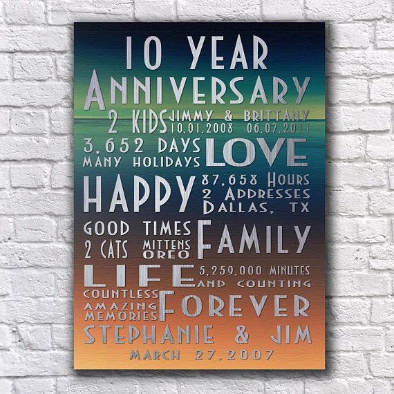 Best 25+ Tenth anniversary gift ideas on Pinterest | 10th ...