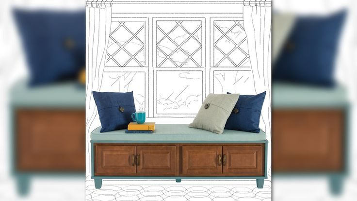 How to Build a Bench Seat with Storage from Lowe's -  easy and versatile too!