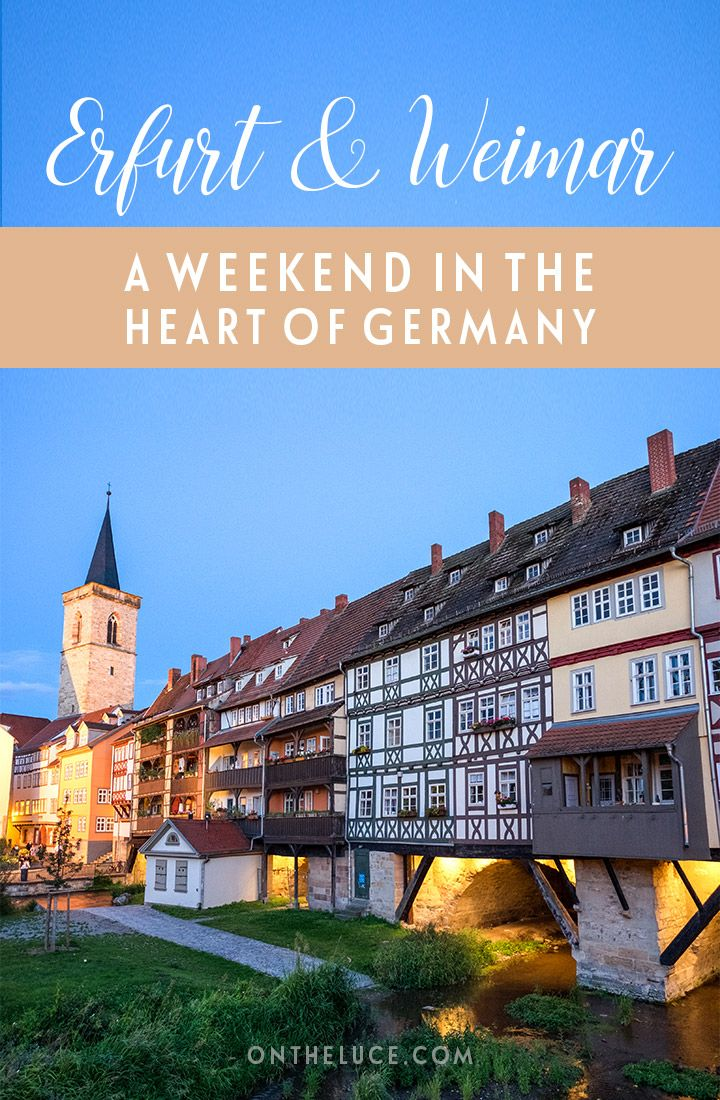 A weekend of culture in Erfurt and Weimar in the heart of Germany, an unspoilt region packed with history, beautiful buildings and great food and drink.