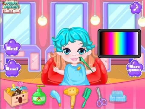 Play Hair Salon Game Give Baby Girl Barbie New Haircuts - Baby Barbie Ha...