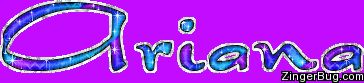 The name Ariana is a Greek baby name. In Greek the meaning of the name Ariana is: Holy one.  In American it means Silver.  http://www.zingerbug.com/Comments/glitter_graphics/ariana_blue_purple_glitter_name.gif