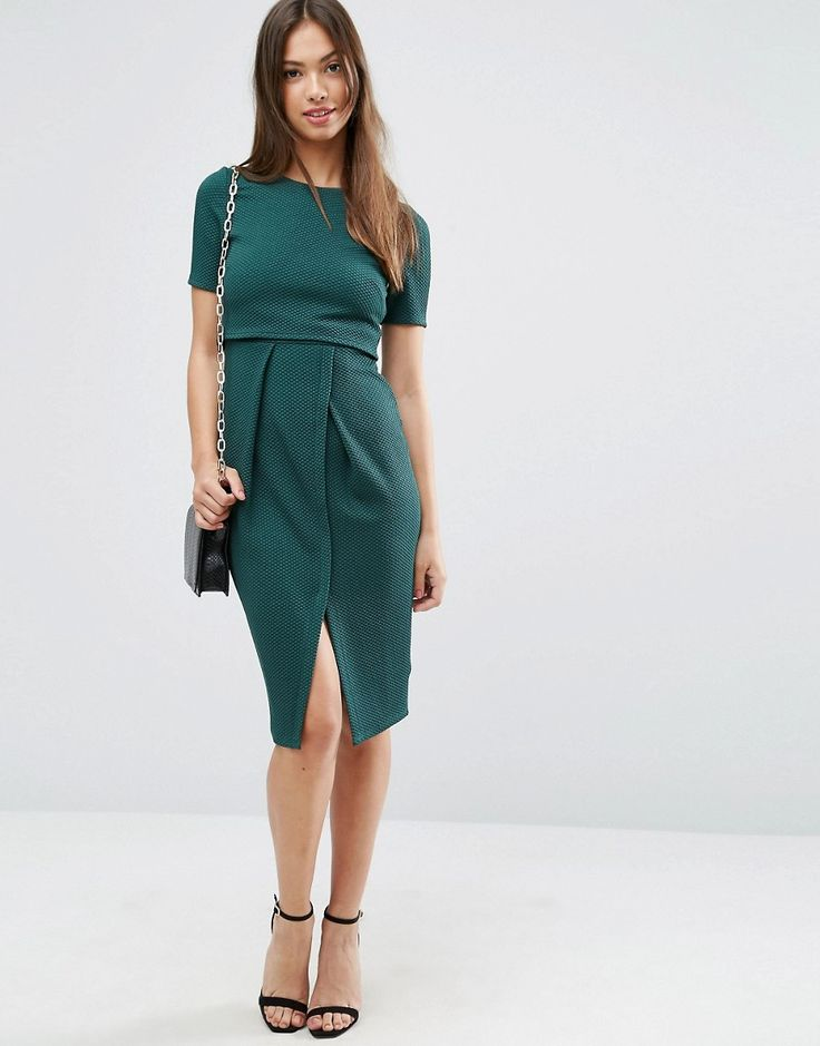 ASOS+Double+Layer+Textured+Wiggle+Dress
